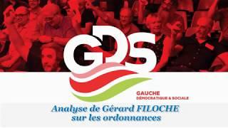 Les ordonnances 2017 vues par Gérard FILOCHE