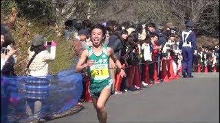 日本学生ハーフマラソン2018 フィニッシュ手前
