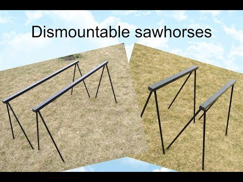 Making dismountable steel sawhorses