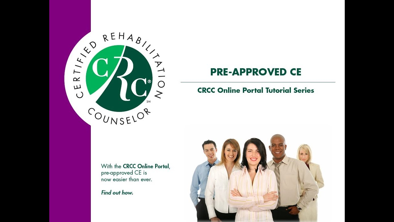 Submitting Pre Approved Ce Crcc Online Portal Tutorial Youtube