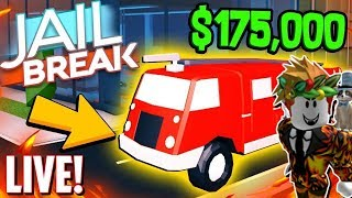 🔴ROBLOX JAILBREAK NEW FIRE TRUCK UPDATE!| JB LIVE| ARCH PLAYS