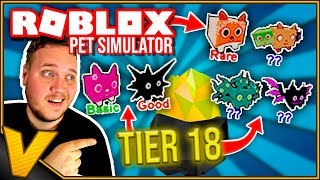 UPDATE 10: PET LEVEL OVER 1 MILLION! :: Pet Simulator - Roblox Dansk