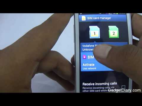 Samsung Galaxy S Duos Dual SIM Functionality & SIM card manager