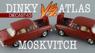 Moskvitch 408 Dinky Toys & Atlas Remake | Порівняння моделей