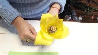 Как сделать цветы орхидеи из гофрированной бумаги