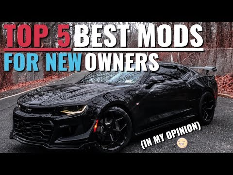 TOP 5 BEST Starting Mods For NEW Camaro Owners!