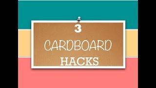 3 Simple Cardboard Hacks - Organisation Hacks - Upcycle Cardboard