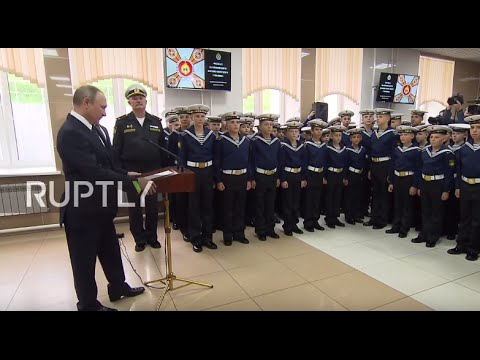 Russia: Putin visits Nakhimov Naval Academy on the Day of Knowledge