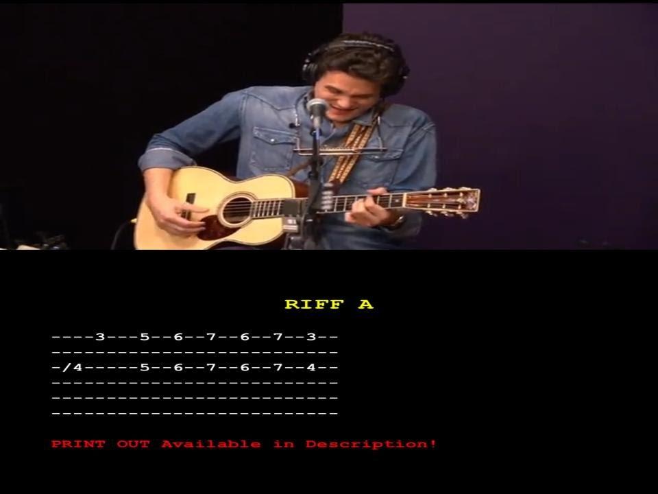 Something Like Olivia Guitar Solo Tutorial G Hangout John Mayer