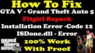 How To Fix | GTA 5 | ISDone.dll Error | Installation Error | Lolly Repack Fitgirl