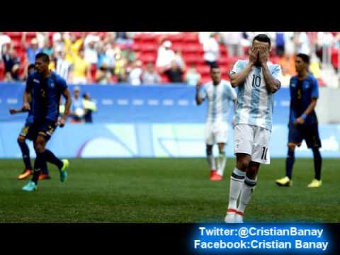 (Relator Enojado) Argentina vs Honduras (1-1)  (Relato Alejandro Fantino) Juegos Olimpicos 2016