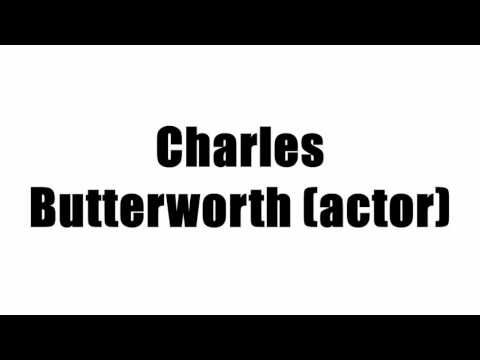 Charles Butterworth (actor)