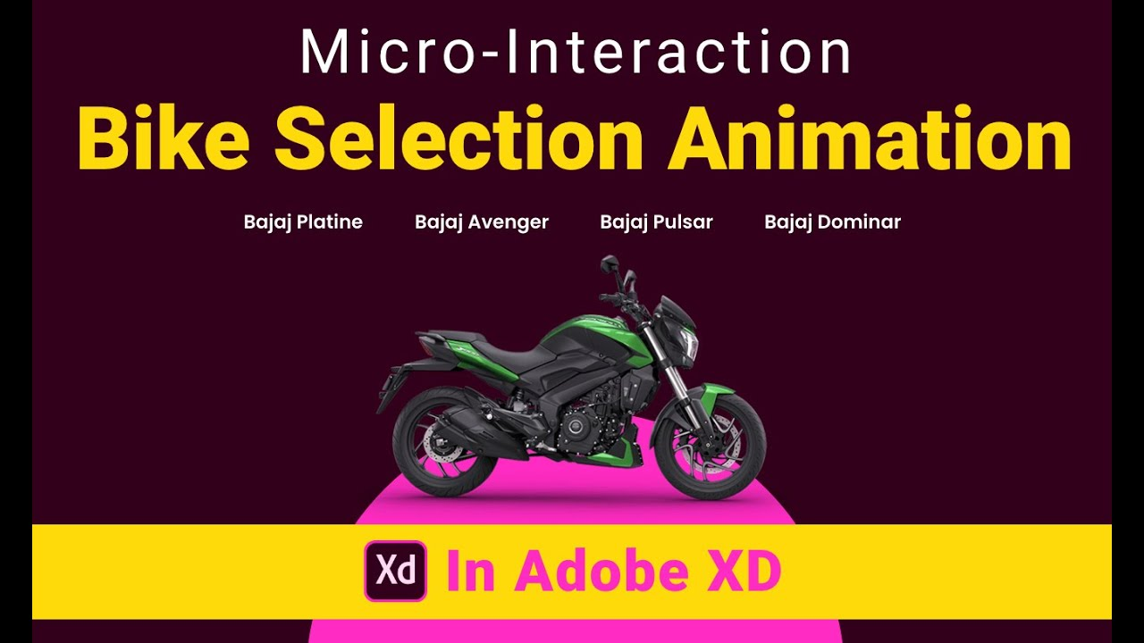 Bike Selection Animation - Interaction in Adobe XD