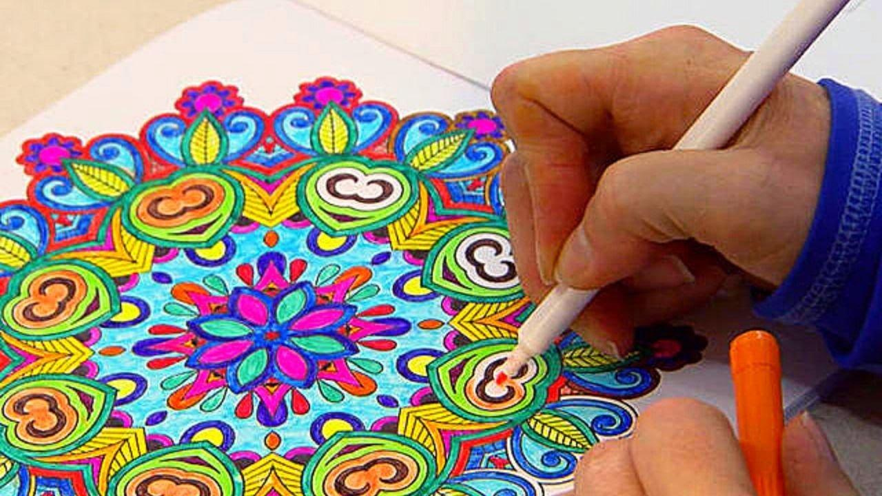 Drawing a Mandala (10x Speed Edit)