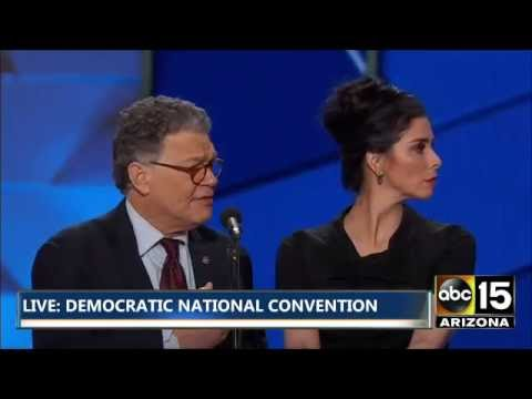 THE MOST AWKWARD TRANSITION! Sarah Silverman & Al Franken booed by Bernie Supporters