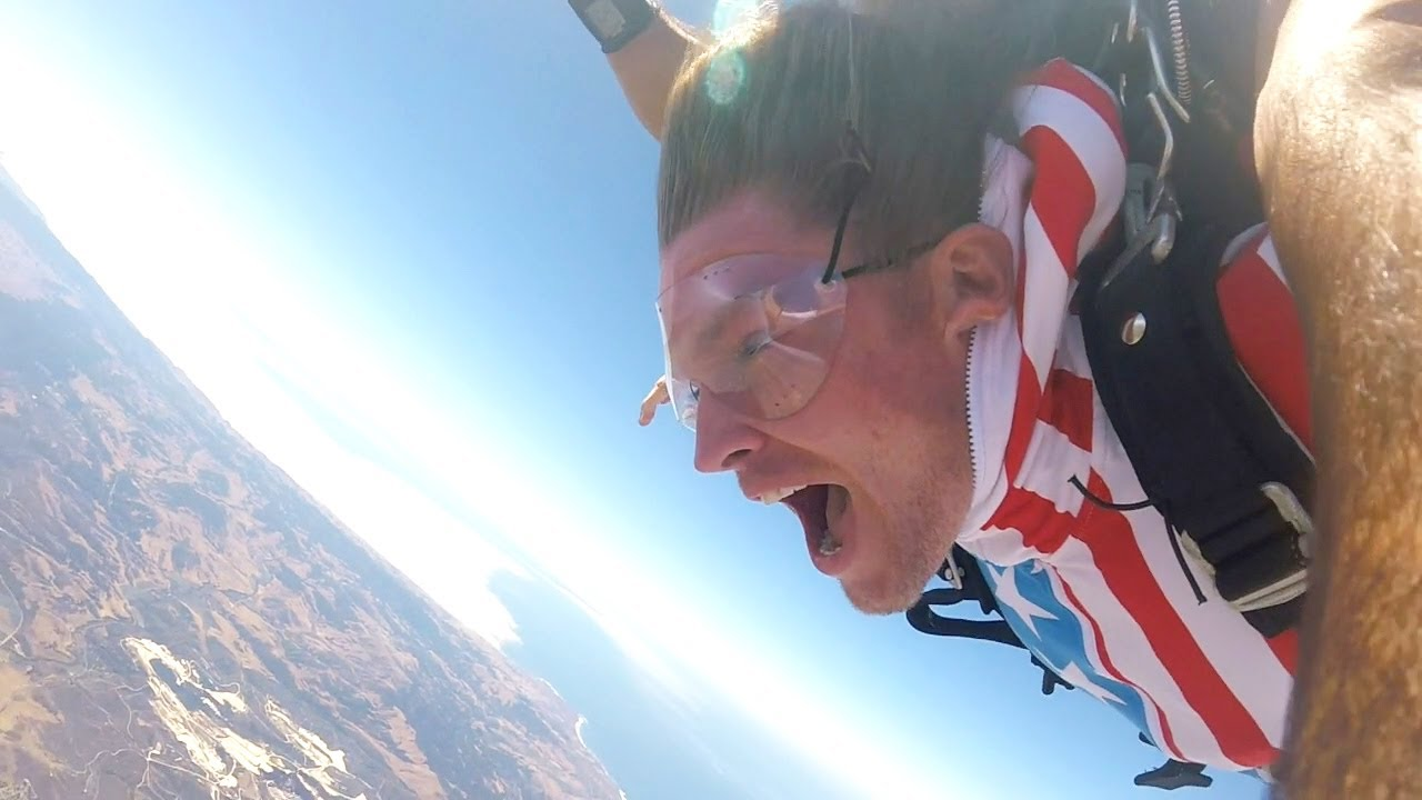 Flag Flying High on the 4th of July - 18,000ft Skydive
