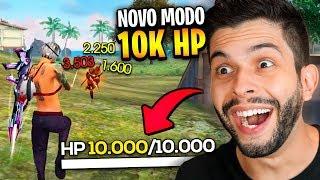 IMORTAL?! BUGUEI O GÁS COM 10.000 DE VIDA NO FREE FIRE!!