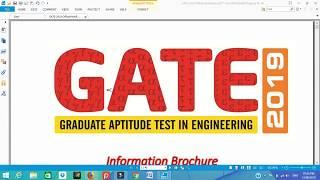 gate exam preparation | gate 2019 || gate 2019 notification iit madras in gujarati