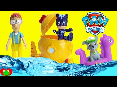 Paw Patrol and PJ Masks Diving Bell Dive for Surprises