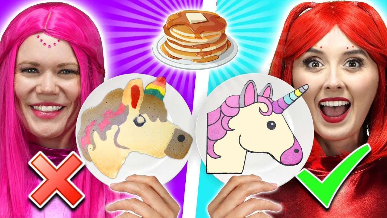 PANCAKE ART CHALLENGE  SUPER POPS TRY ONE COLOR EMOJI CHALLENGE  Totally TV Originals