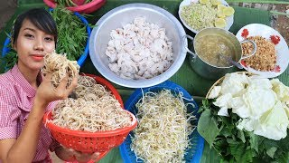 Yummy cooking traditional Khmer food recipe - Cooking skill fish with vegetable