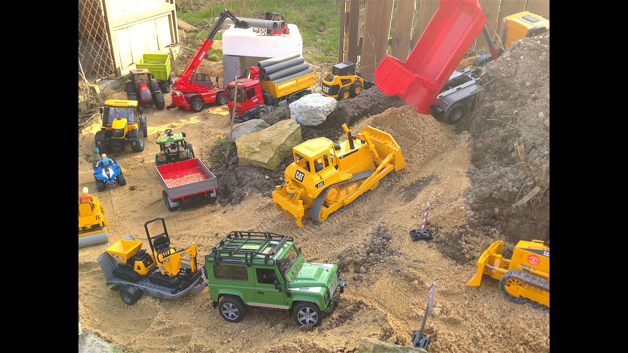 Bruder Construction Toys : Bruder toys construction company in action youtube