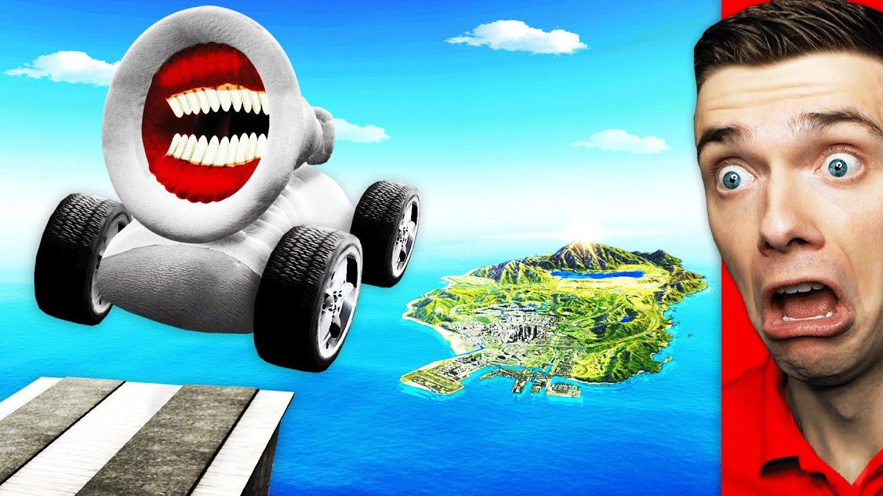 Download Jumping GREAT MOTHER MEGAPHONE CARS Across GTA 5