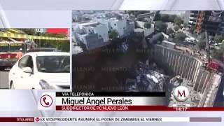 Muere persona tras derrumbe de casas en Monterrey