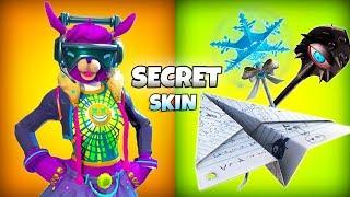 *NEW* Fortnite Secret SKIN Leaked + PAPER Plane Glider..! (Female DJ Yonder)