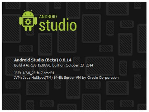 Download Install And Run Android Studio (Beta) 0.8 Version
