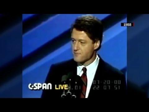 Bill Clinton's DNC speeches through the years
