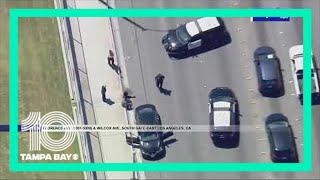 High-speed chase: Police pursue driver in Los Angeles area