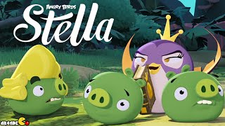 Angry Birds Stella -  New Golden Map Level 18 Walkthrough Part 24
