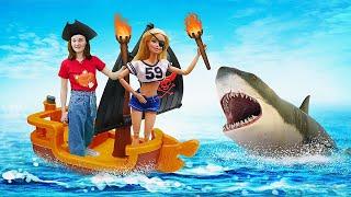 Видео с куклами - Морское Путешествие Барби и Кена! – Новые игры для девочек одевалки.