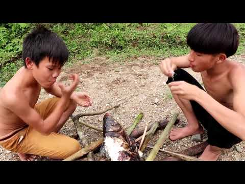 catch-big-fish-with-hands:-hunting-and-cooking-fish-at-the-river---viewow