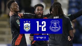 TOWNSEND WINS IT FOR 10-MAN TOFFEES!   HUDDERSFIELD TOWN 1-2 EVERTON   CARABAO CUP HIGHLIGHTS