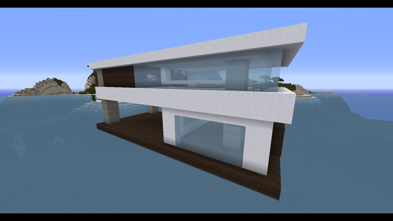 minecraft maison moderne flottante part 1 flottante part 1 youtube. Black Bedroom Furniture Sets. Home Design Ideas