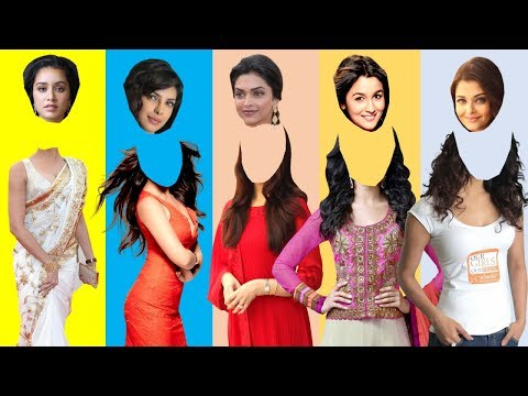 Bollywood Actress Wrong Heads Fun Video | Whats your guess??