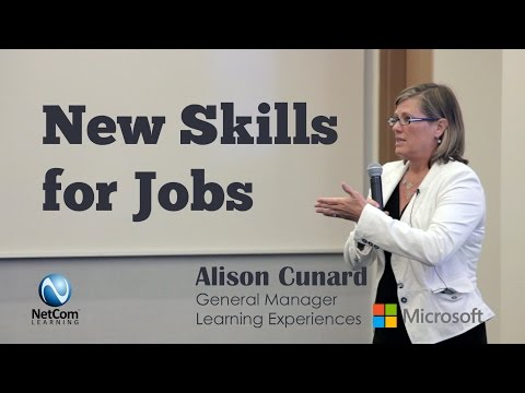 New Skills for Jobs by Alison Cunard, GM Learning Experiences, Microsoft