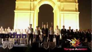 Royal Air Force and Indian Air Force bands Perform at India Gate, New Delhi, India