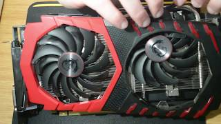 how to: Replace Twin Frozr VI Fans on MSI RX580 Gaming X