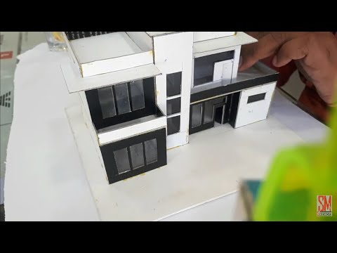 How To Make A Architectural Model Of Modern House From Cardboard