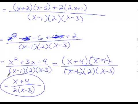 Algebra 2 Chapter 8 Section 5 Adding And Subtracting Rational Expressions