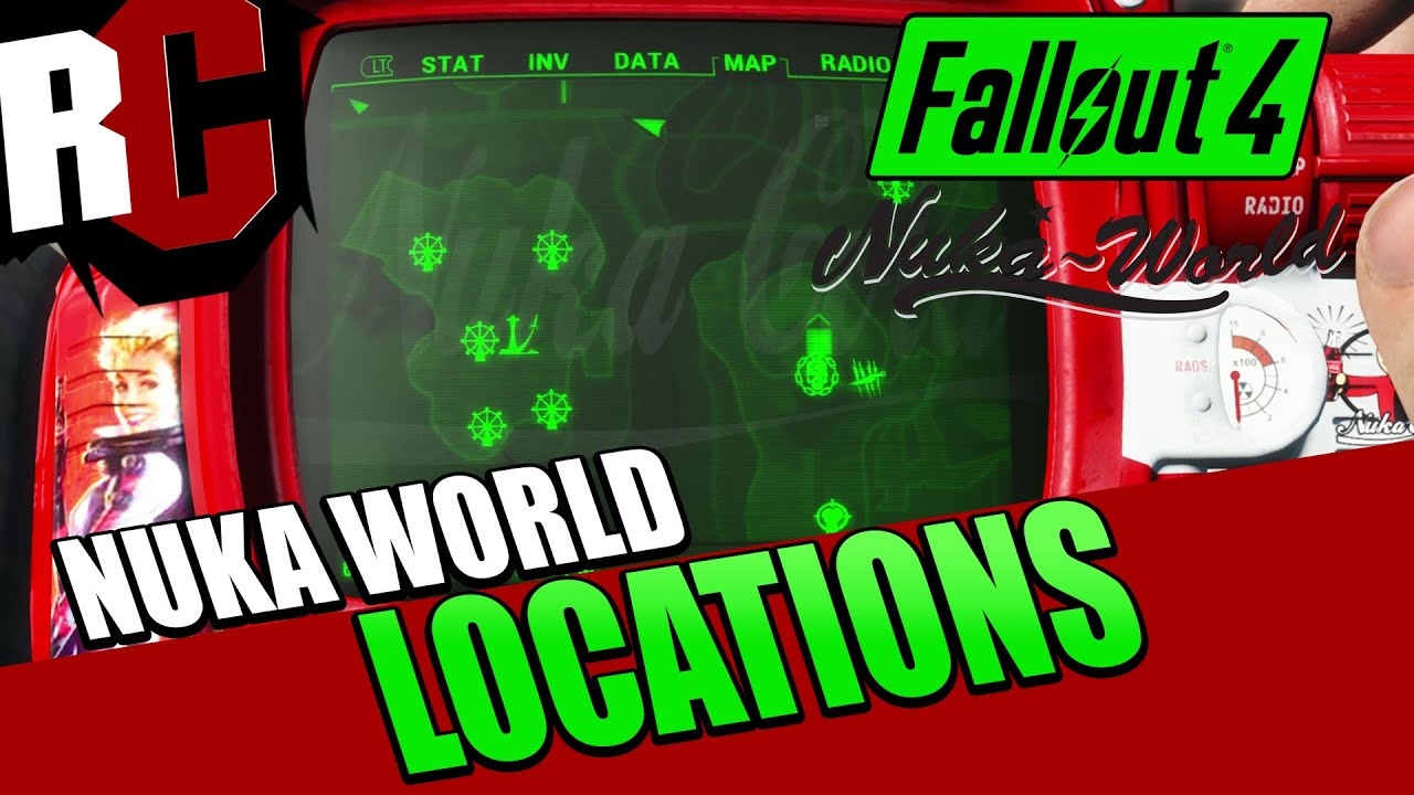 Fallout 4 Nuka World All New Map Locations Youtube