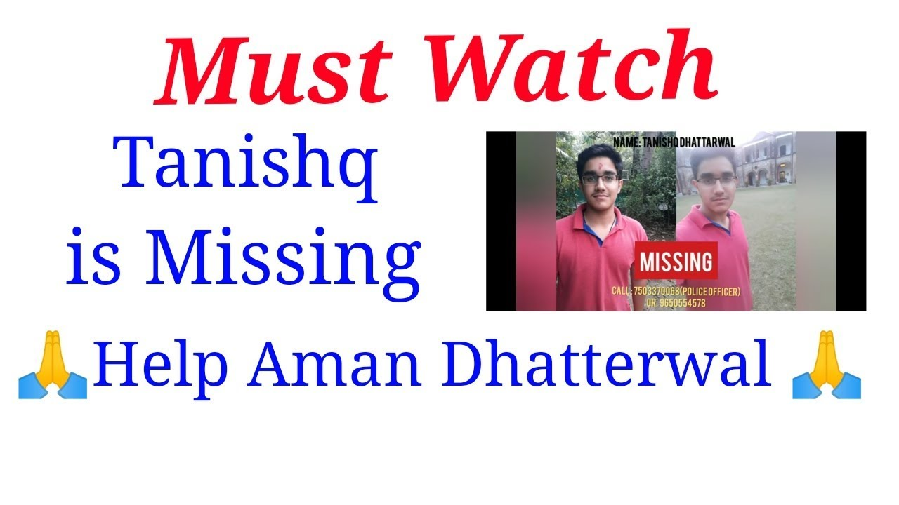 Our Brother is Missing | Find Tanishq | Help Aman Dhattarwal | Pink city  Jobs-Jobs in Jaipur