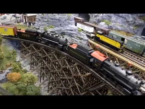 O Scale Train Layout – MTH Premier – Red Lion Train Station August 2016 open house
