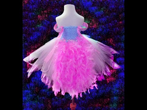 no-sew-pink-princess-feather-tutu-dress
