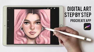 PROCREATE TUTORIAL- Step by Step Digital Illustration