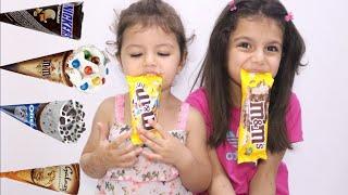 تحدي الايسكريم ضد الشوكلاتة | sewar and masa staged a chocolate challenge