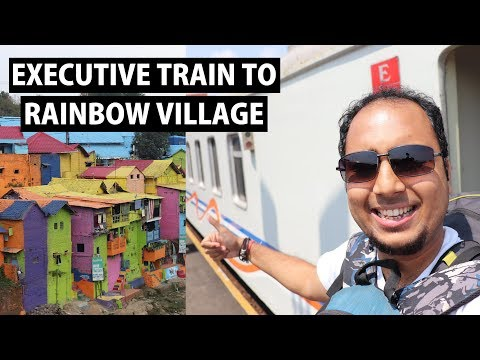 Indonesia Rainbow Village | Executive Train- Yogyakarta to Malang | Indonesia Ep 6